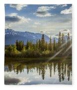 Jasper Glory Rocky Mountain View Fleece Blanket