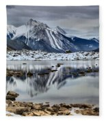 Jasper Medicine Lake Reflections Fleece Blanket