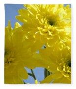 Yellow Trio Fleece Blanket