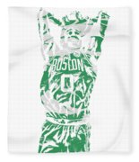 Jayson Tatum Boston Celtics Pixel Art 12 Fleece Blanket