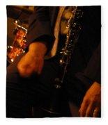 Jazz Clarinet Fleece Blanket