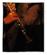 Jazz Clarinet Profile Fleece Blanket