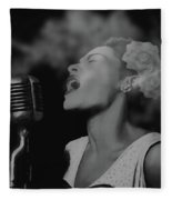 Jazz Great Billie Holiday Fleece Blanket