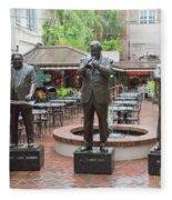 Jazz Greats Al Hirt Fats Domino Pete Fountain Stature New Orleans  Fleece Blanket