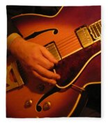 Jazz Guitar  Fleece Blanket