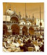Jazz In Piazza San Marco Fleece Blanket