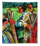Jazz In The Garden Fleece Blanket