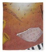 Jazz Music Fleece Blanket