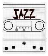 Jazz Music Tape Cassette Fleece Blanket