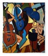 Jazz Trio  Fleece Blanket