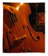 Jazz Upright Bass Fleece Blanket