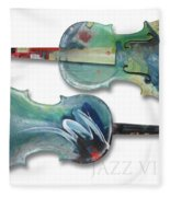 Jazz Violin - Poster Fleece Blanket