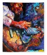 Jazzy Guitar Fleece Blanket