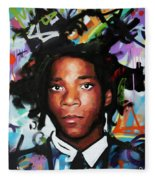 Jean, Michel, Basquiat II Fleece Blanket