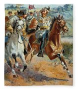 Jeb Stuarts Cavalry 1862 Fleece Blanket