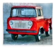 Jeep 1959 Fc150 Forward Control Pickup Fleece Blanket