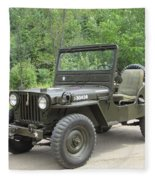 Jeep At Hydes Creek Fleece Blanket