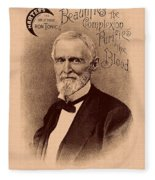 Jefferson Davis Vintage Advertisement Fleece Blanket