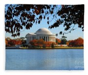 Jefferson In Splendor Fleece Blanket