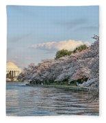 Jefferson Memorial # 4 Fleece Blanket