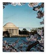 Jefferson Memorial In Spring Fleece Blanket
