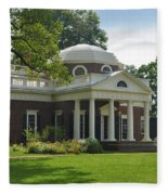 Jeffersons Monticello Fleece Blanket