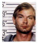 Jeffrey Dahmer Mug Shot 1991 Square  Fleece Blanket