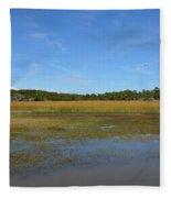 Jekyll Marsh Fleece Blanket