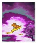 Jelks Pine 8 Fleece Blanket