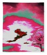 Jelks Pine 9 Fleece Blanket