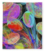Jelly Beans And Balloons Abstract Fleece Blanket