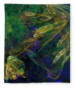 Jelly Fish  Diving The Reef Series 1 Fleece Blanket