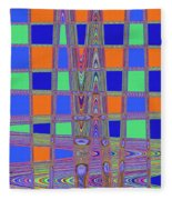 Jelly Fish On The Beach Abstract Fleece Blanket