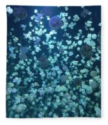 Jellyfish Collage Fleece Blanket
