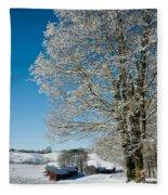 Jenne Farm Winter In Vermont Fleece Blanket