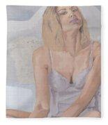 Jenny In White Fleece Blanket