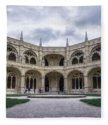 Jeronimos Monastery Cloister Fleece Blanket