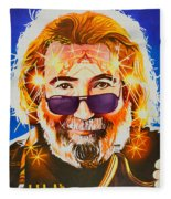 Jerry Garcia-dark Star Fleece Blanket