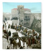 Jerusalem: Bazaar, C1900 Fleece Blanket