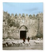 Jerusalem: Damascus Gate Fleece Blanket