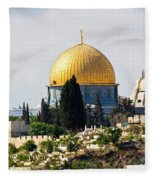Jerusalem Dome Of The Rock  Fleece Blanket