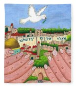 Jerusalem Image Fleece Blanket