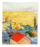 Jerusalem In 1899 Fleece Blanket