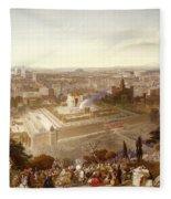 Jerusalem In Her Grandeur Fleece Blanket