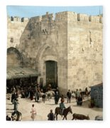 Jerusalem: Jaffa Gate Fleece Blanket