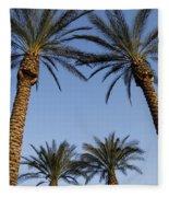 Jerusalem Palms Fleece Blanket
