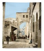 Jerusalem: Via Dolorosa Fleece Blanket