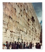 Jerusalem  Wailing Wall - To License For Professional Use Visit Granger.com Fleece Blanket