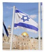 Jerusalem Wailing Wall Fleece Blanket