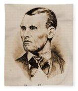 Jesse James Fleece Blanket